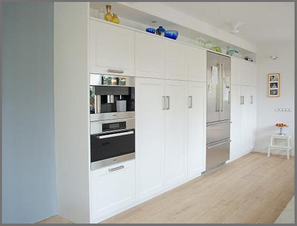 kastenwand apparatuur, apparatenkast, Liebherr koelkast, Miele stoomoven, Miele combioven